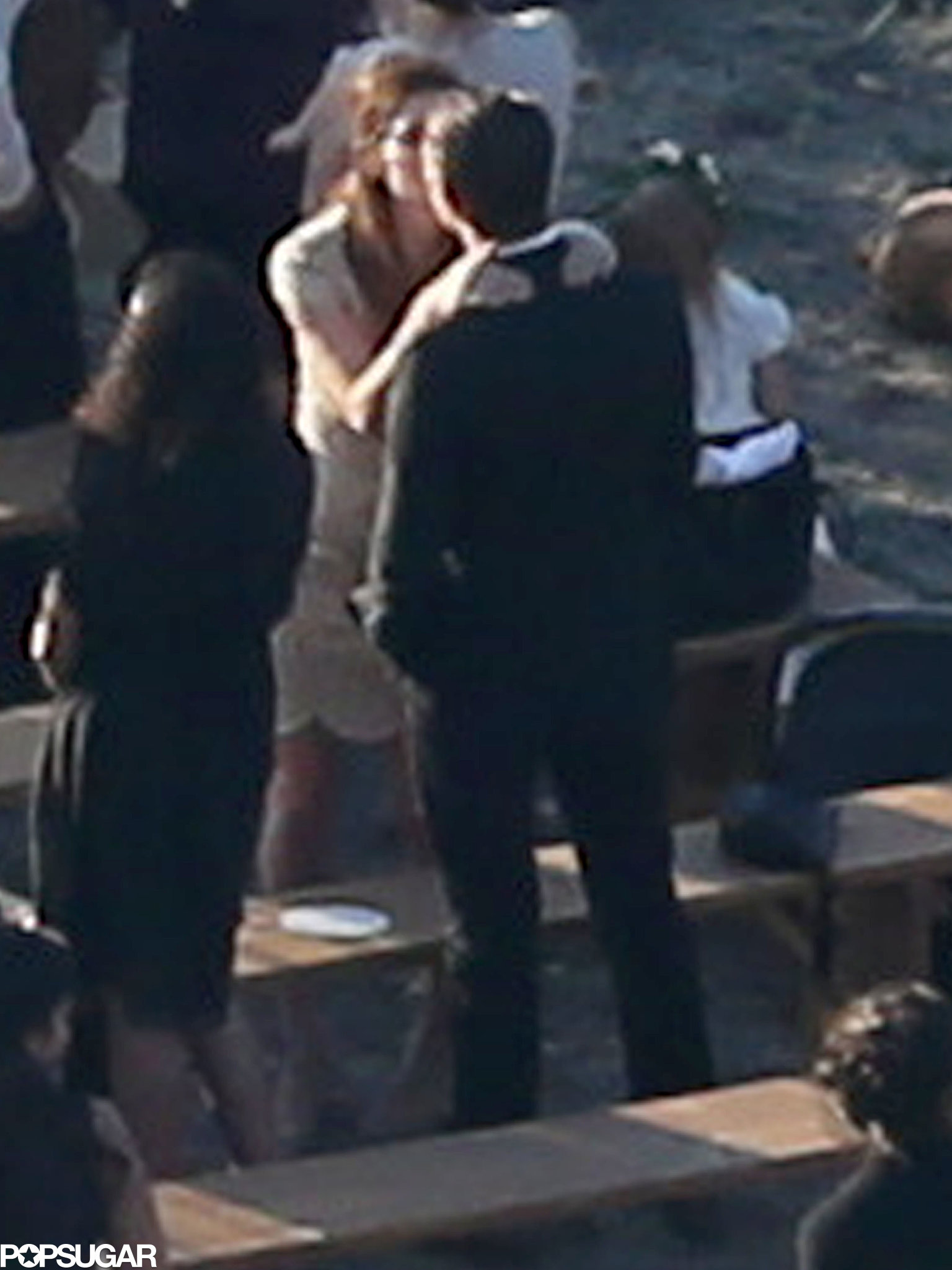 Lake Bell gave her husband a kiss after witnessing the nuptials.
