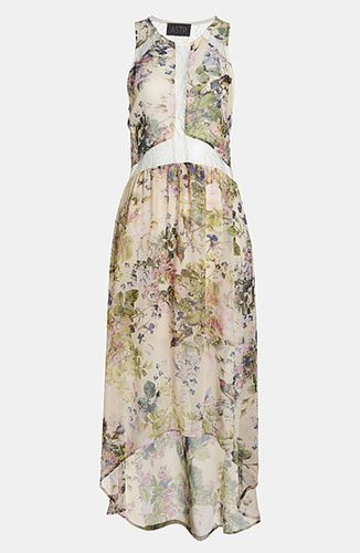 ASTR Lace Illusion High/Low Dress
