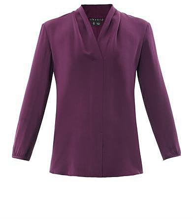 Theory Helona silk blouse