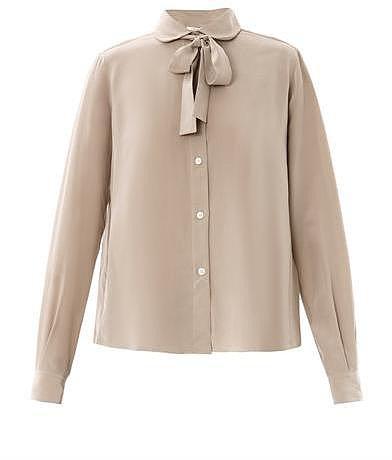 Lareida Ace pussy-bow silk blouse
