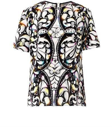 Peter Pilotto Jone stencil-print blouse