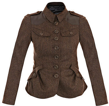 Burberry Prorsum Herringbone leather-patch jacket