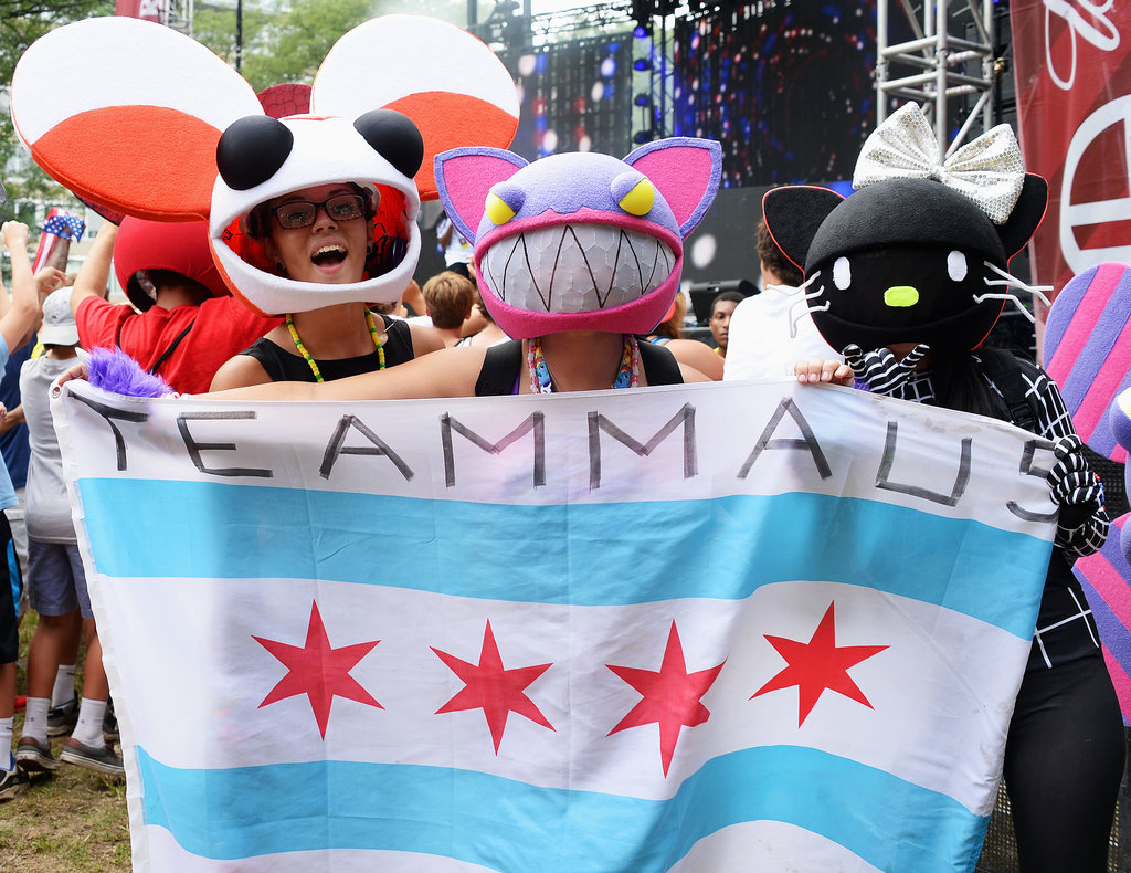Deadmau5 fans showed their support at the Made in America Festival.