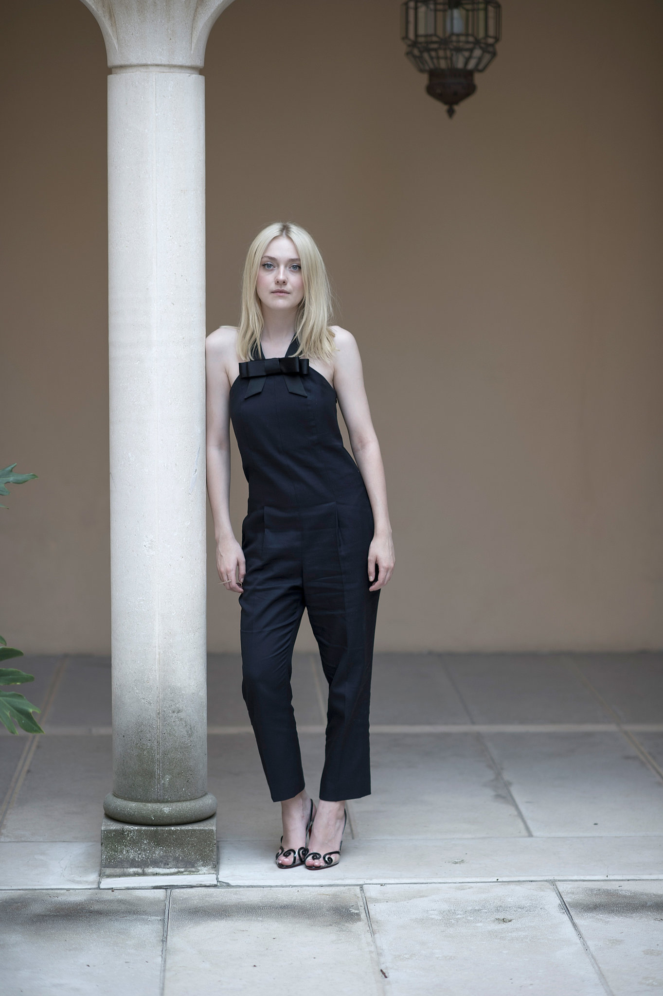 Dakota  Fanning Spotted Black Jumpsuit From  Viktor  Rolf