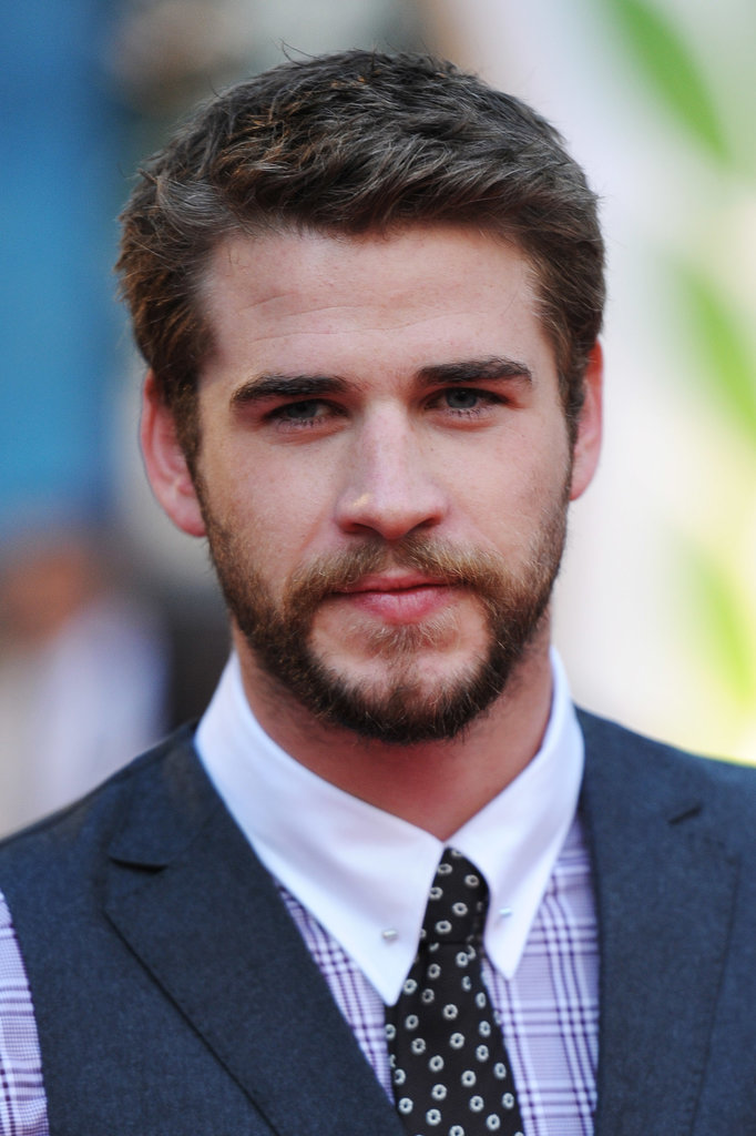 Liam Hemsworth smiled while posing on the red carpet.