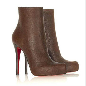 Affordable Christian Louboutin Brown Ariella A Talon Booties
