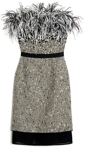 Giambattista Valli Jewel and Feather Dress