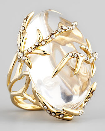 Alexis Bittar Ophelia Vine Ring, Clear