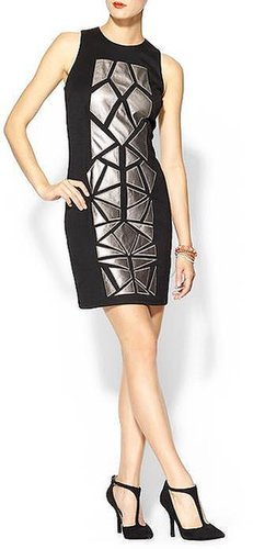 Tinley Road Vegan Leather Mosaic Dress
