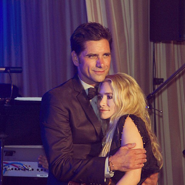 """John Stamos shared a """"special picture"""" of himself with Ashley Olsen after the Full House cast reunited for his 50th birthday. Source: Instagram user johnstamos"""