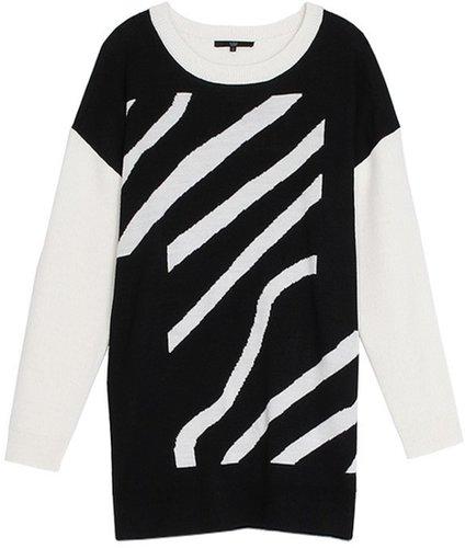 Zebra Stripe Jacquard Dress