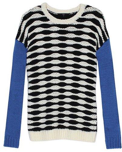 Wavy Stripe Pullover