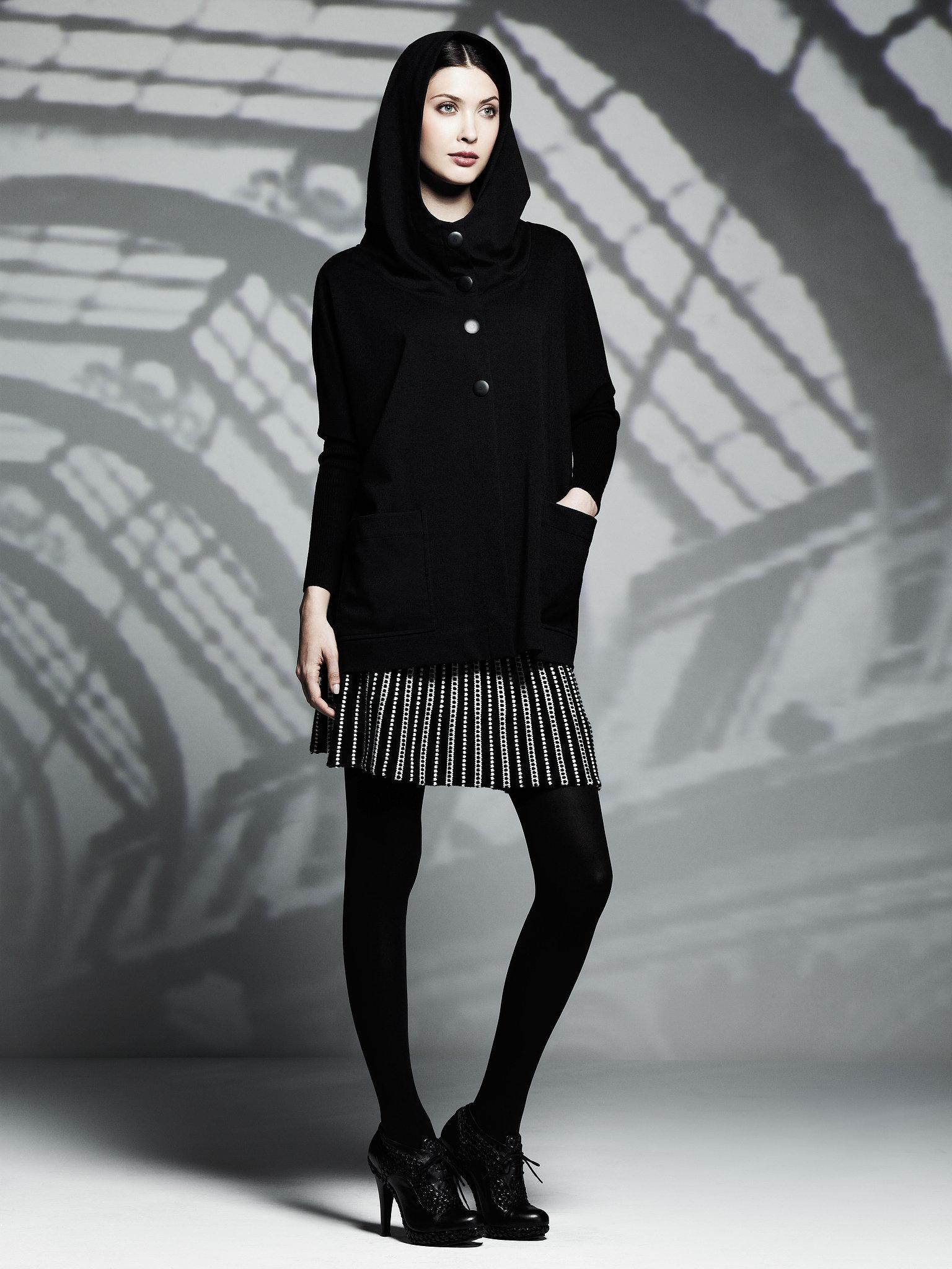 Oversized Hooded Jacket ($78), Sweater Skirt ($54) Photo courtesy of Kohl's