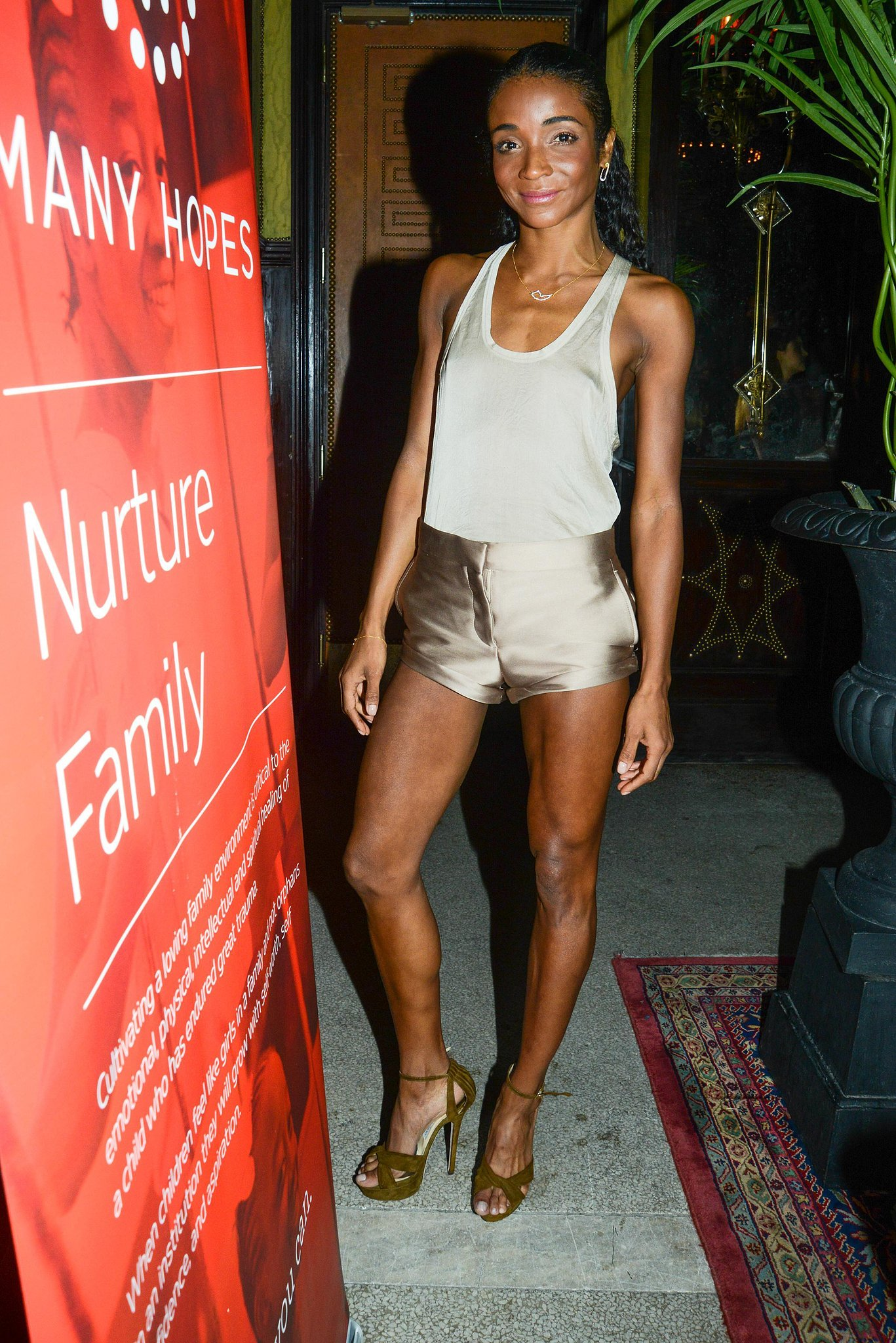 """Genevieve Jones joined """"Team Stam"""" at the launch of LPD New York x Jessica Stam's collaboration at New York's The Jane Hotel."""