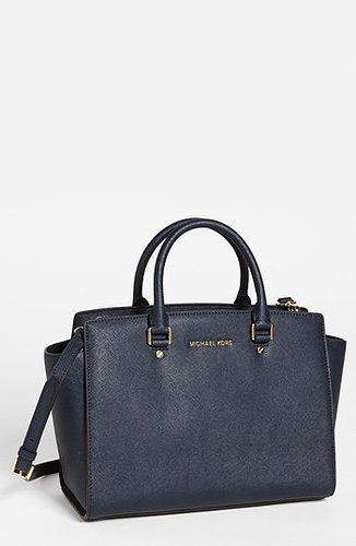MICHAEL Michael Kors 'Selma - Large' Leather Satchel