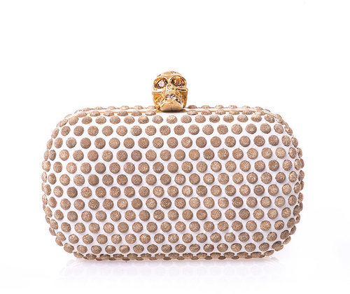Alexander McQueen Skull studded leather clutch