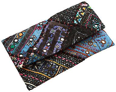 East Vintage Patchwork Clutch Bag, Multi