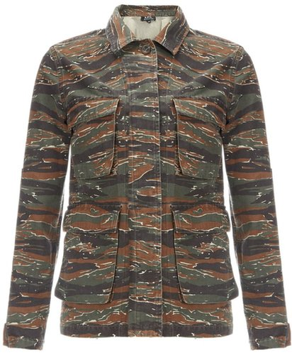 A.P.C. Camouflage Military Jacket