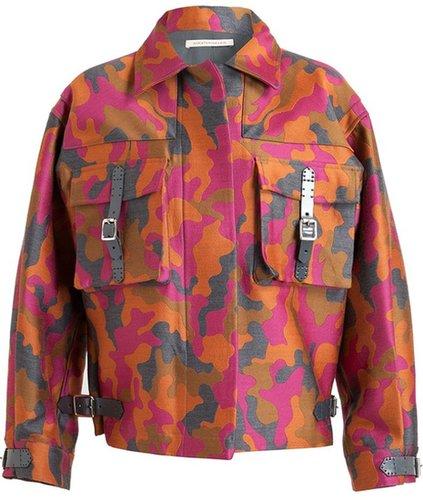 Christopher Kane Camouflage Wool-silk Parka Jacket