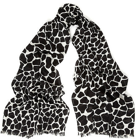 Tiled Giraffe Print Scarf
