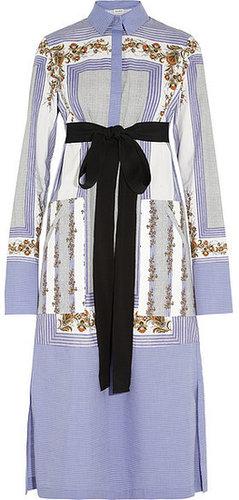 Suno Bedrucktes Hemdblusenkleid aus Baumwolle