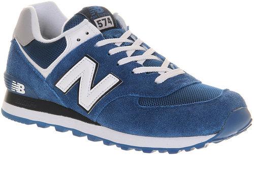 New Balance New Balance M574 Blue White - His Trainers