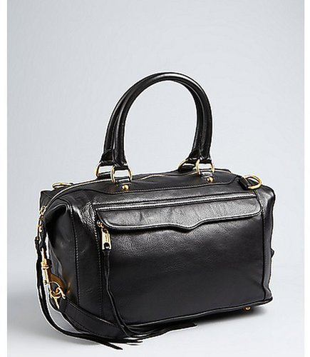 Rebecca Minkoff black leather 'MAB' weekend satchel