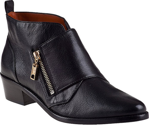 REBECCA MINKOFF Saachi Bootie Black Leather