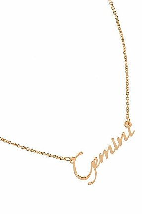 Rebecca Minkoff Gemini Zodiac Necklace in Gold