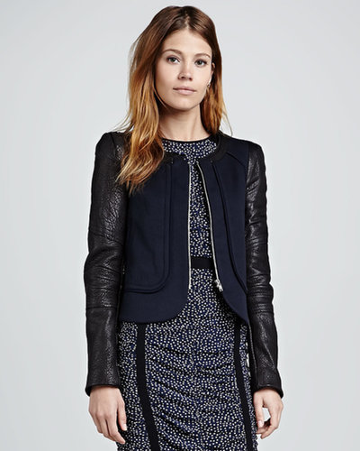 Rebecca Minkoff Odyssey Leather-Sleeve Jacket