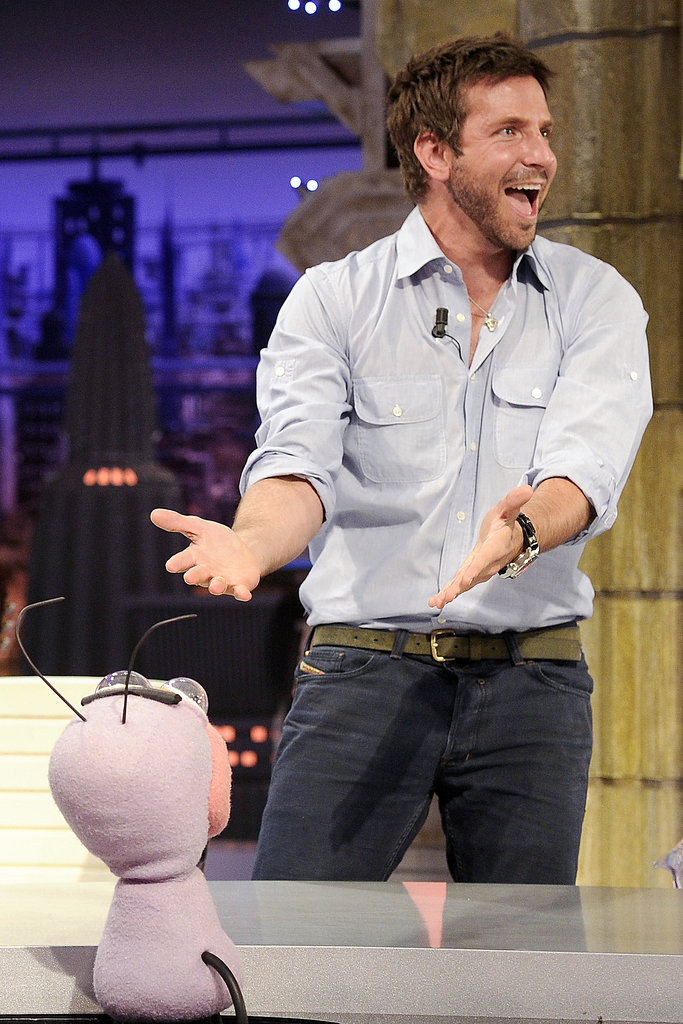 Bradley Cooper was on the El Hormiguero show in Madrid, Spain.