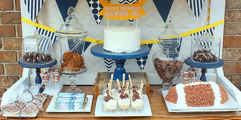 A Modern, Striped, and Chevron Football Party