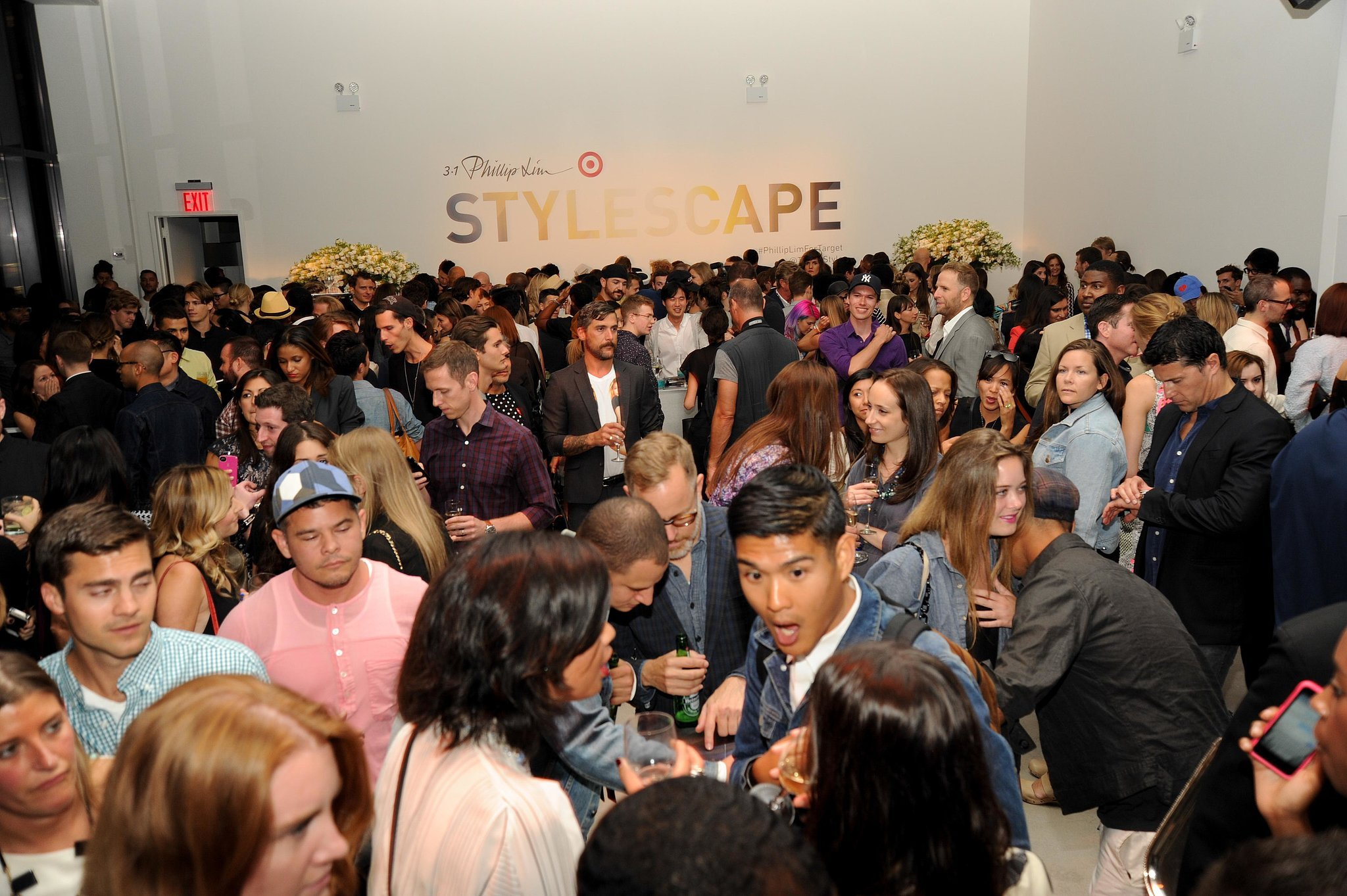 The scene at the party was, in a word, crowded — but what else would you expect for a highly popular collaboration?
