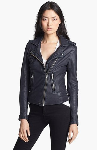 IRO Asymmetrical Leather Moto Jacket