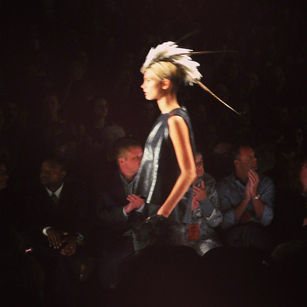 A feather mohawk made a bold statement at the Project Runway show.