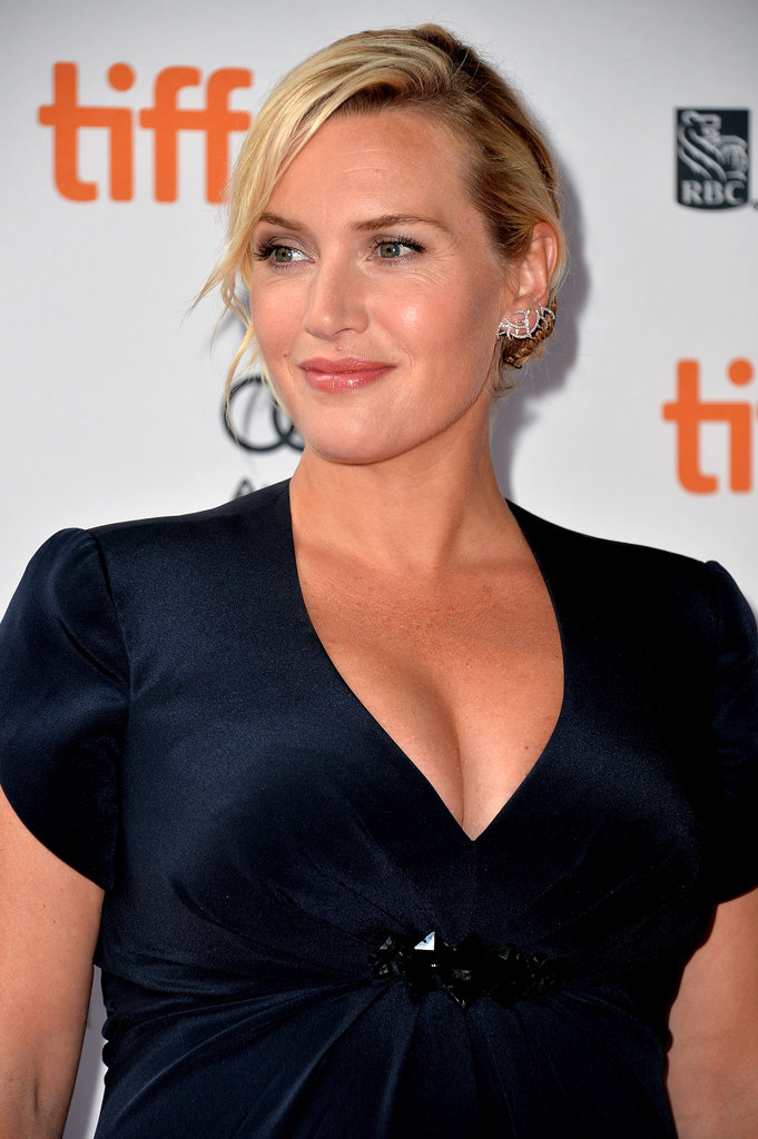 Kate Winslet showed off a glowy complexion while attending the Labor Day premiere.