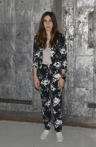 Zosia Mamet wasn't afraid to go bold — or floral — at the Rebecca Taylor Spring 2014 show.