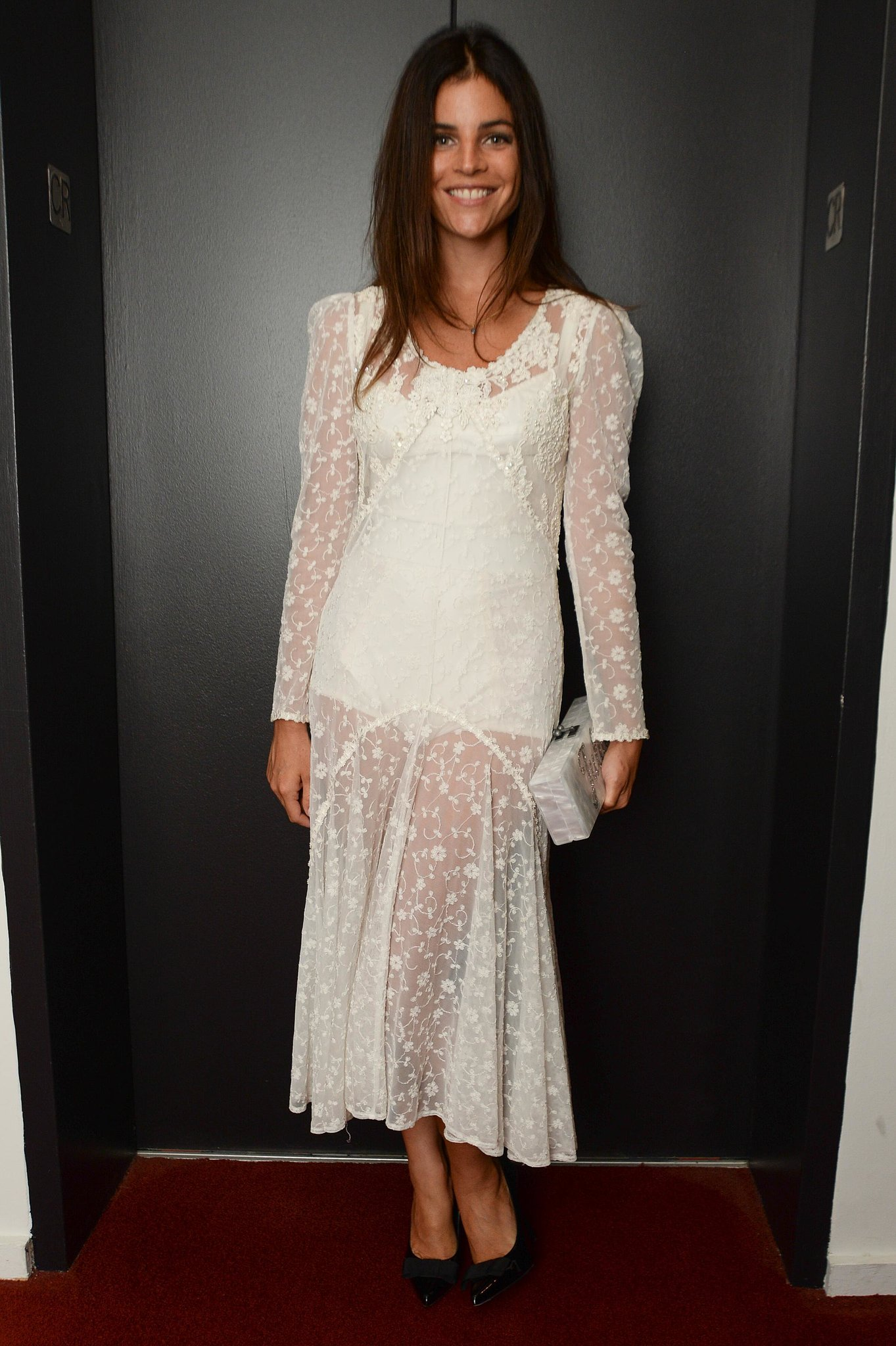 Julia Restoin Roitfeld was every bit the supportive ...