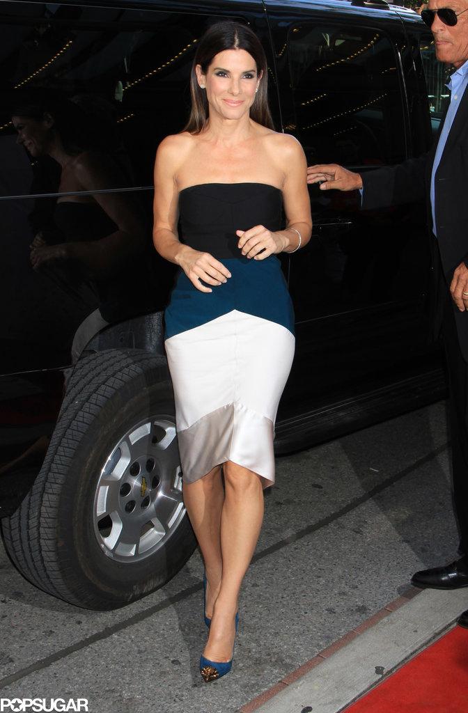 Sandra Bullock arrived for the Gravity premiere in Toronto.