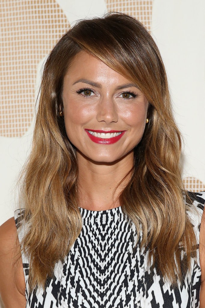 Stacy Keibler at Monique Lhuillier Spring 2014.