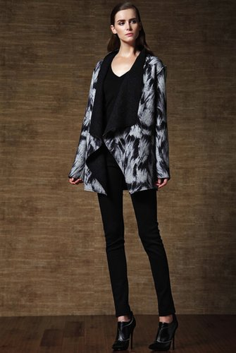 Paisley-print Cape Coat