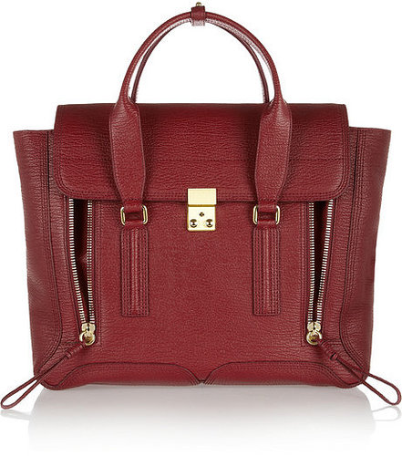 3.1 Phillip Lim The Pashli medium shark-embossed leather trapeze bag