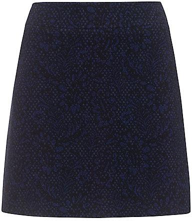 Jigsaw Rosetti Jacquard Skirt