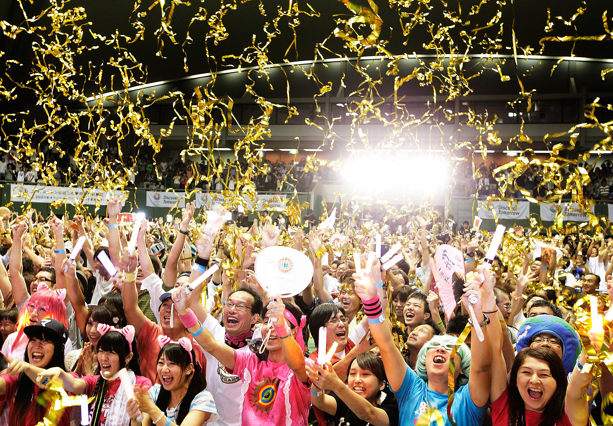 More confetti! More cheering!