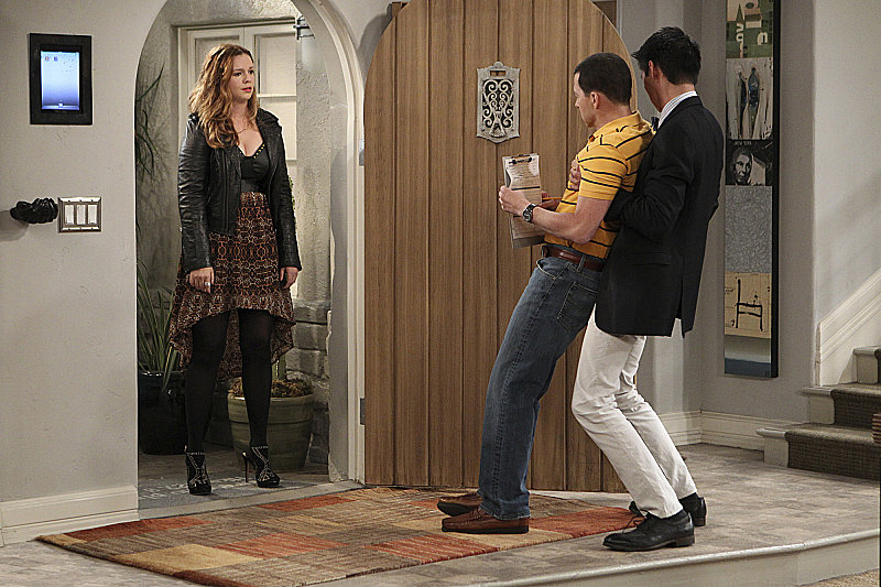 Two and a Half Men Amber Tamblyn appears on the season premiere of Two and a Half Men as Charlie's long-lost daughter.