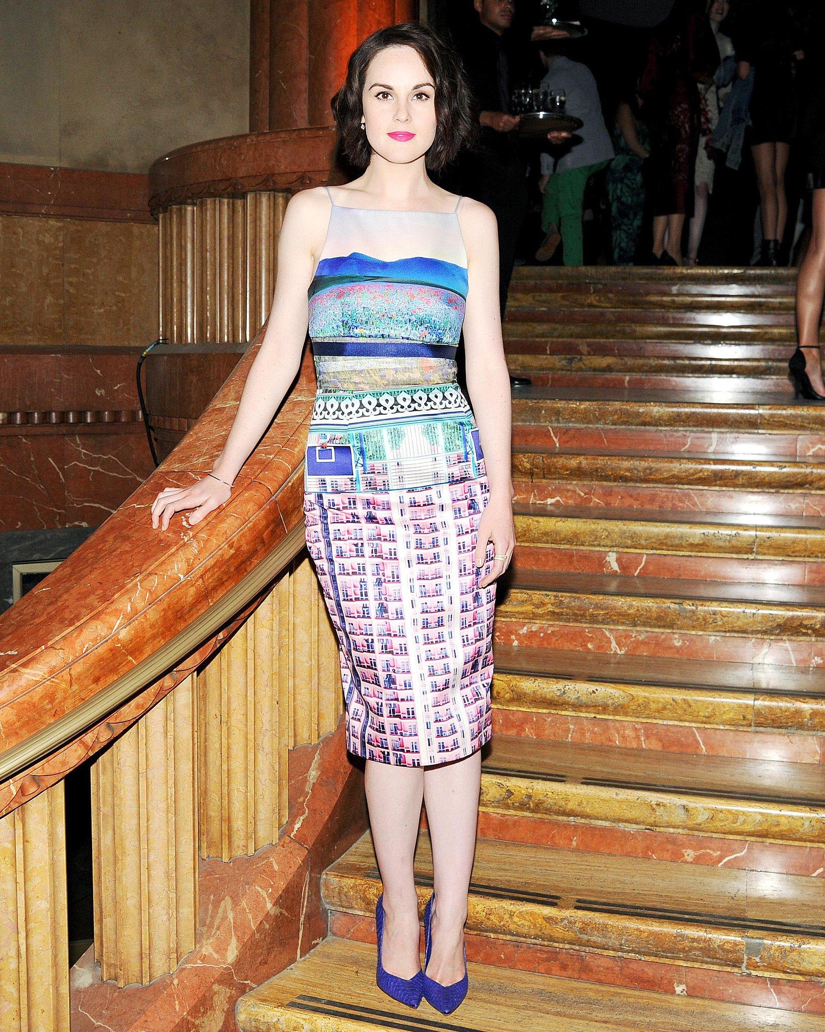 Michelle Dockery posed on a staircase. Source: Jason Merritt/BFAnyc.com