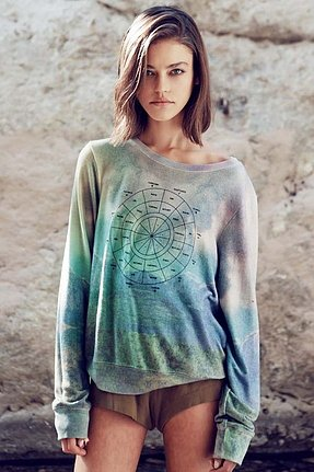 Wildfox Couture With You, Without You Daydream Baggy Beach Jumper in Multi