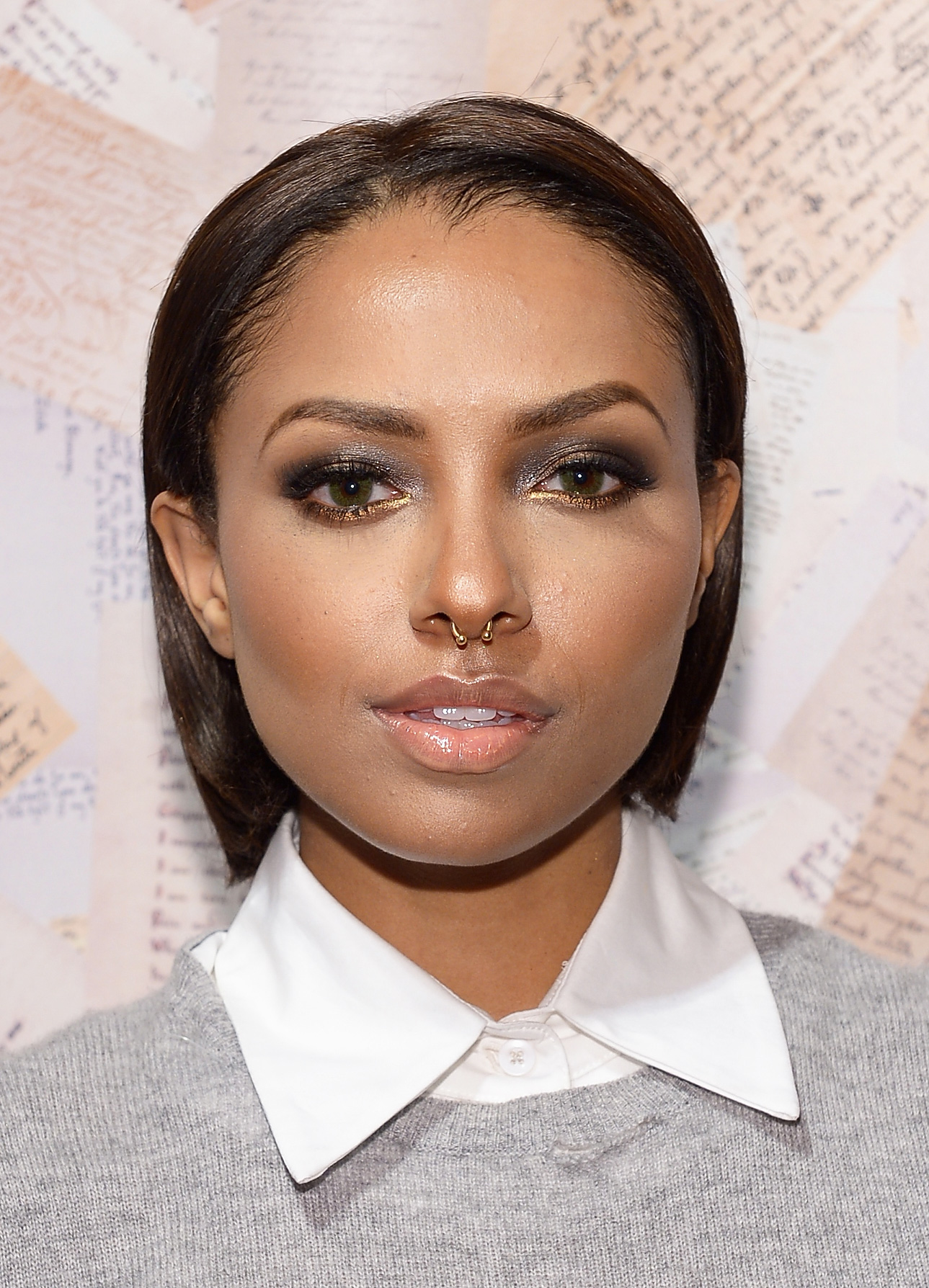 Kat Graham at Alice + Olivia Spring 2014.