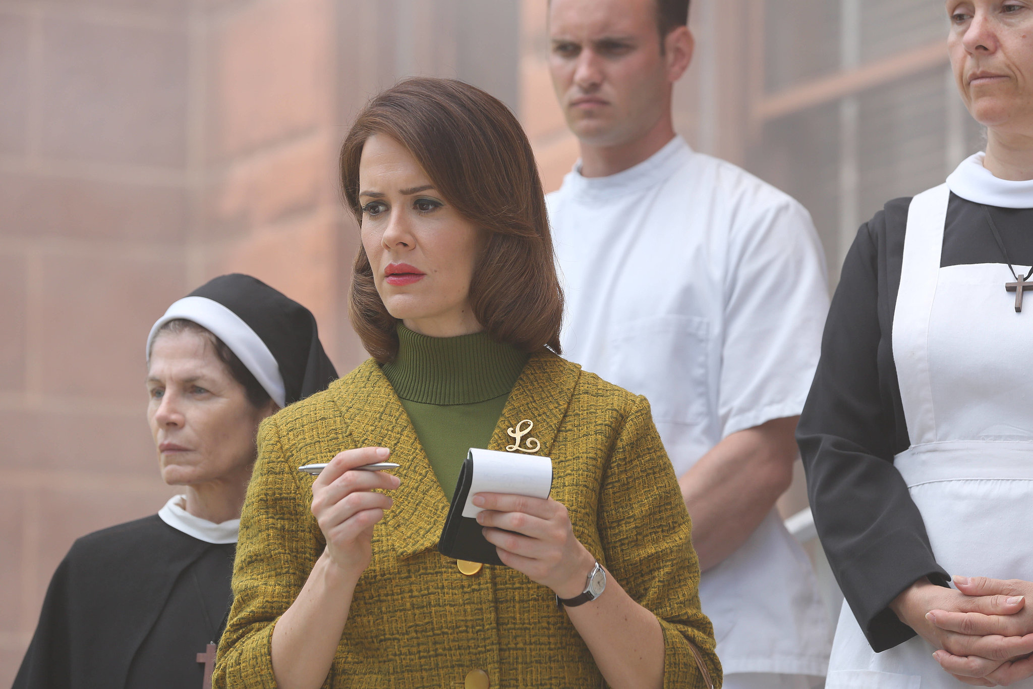 Outstanding Supporting Actress in a Miniseries or Movie As scene-stealing as she is in season one of American Horror Story, Sarah Paulson really ups her game for Asylum. She also has a much meatier role: a roving reporter who goes undercover at an institution, only to become trapped by even darker forces of evil than the nuns patrolling the hospital. Paulson manages to be broken yet cunning in a fascinating performance.