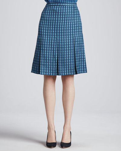 Tory Burch Leigh Printed Pleated Skirt